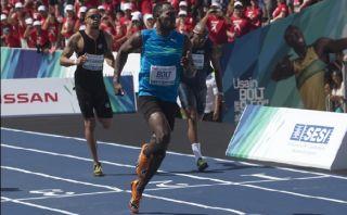 Usain Bolt ganó en Río de Janeiro y celebró bailando samba