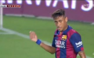 Mira el golazo de Neymar ante el León en el Trofeo Joan Gamper