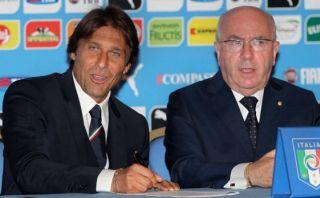 Antonio Conte es presentado como técnico de Italia