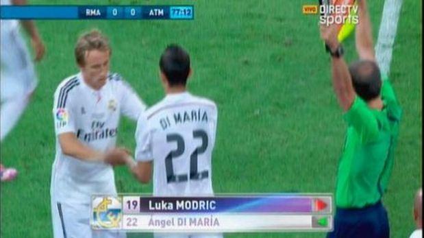 Di María ingresó a los 77' y fue ovacionado por el Bernabéu