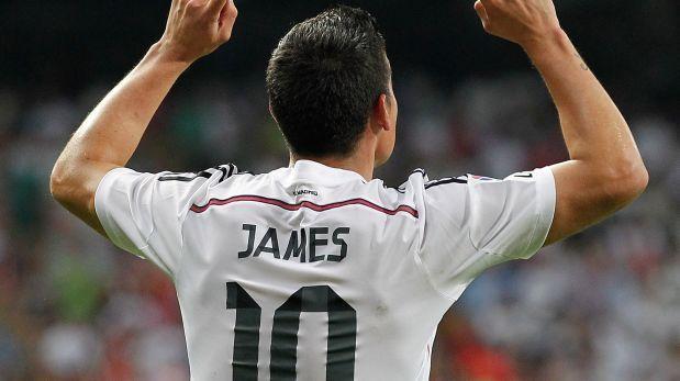 James Rodríguez y un debut casi soñado en el Santiago Bernabéu