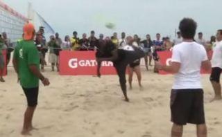 Mira los lujos de Usain Bolt jugando fútbol playa en Brasil