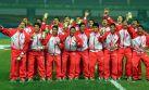Festejos y premiación al Perú campeón en Nanjing 2014
