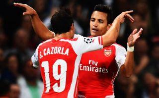 Alexis Sánchez marcó su primer gol con Arsenal en la Champions