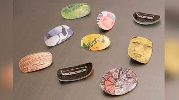 Mira estos broches creados con lunas de lentes reciclados
