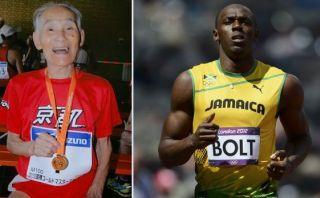 Japonés de 103 años reta a Usain Bolt a una carrera de 100 m.