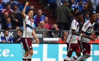 Lewandowski anotó su primer gol oficial con el Bayern Múnich