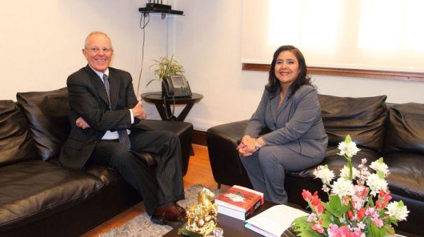Ana Jara se reunió con PPK para analizar agenda nacional