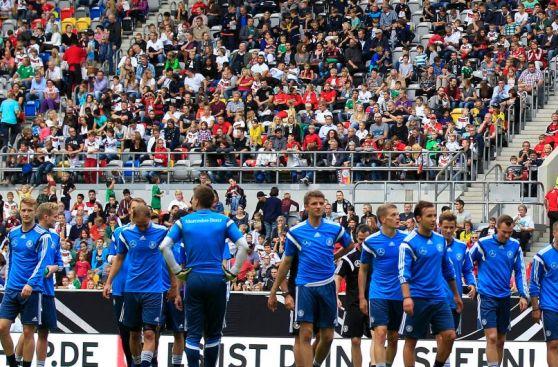 Alemania vs. Argentina: teutones entrenaron ante 45 mil hinchas
