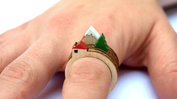 Crea hermosos paisajes con estos anillos de madera