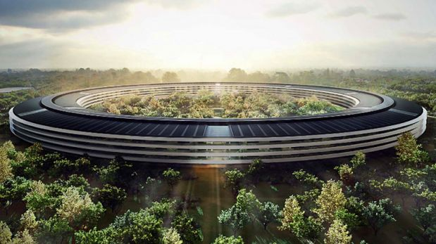VIDEO: Drone captura la construcción del nuevo campus de Apple