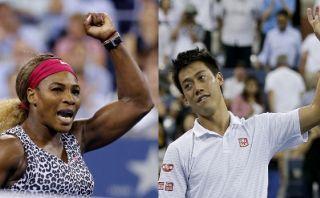 US Open: Serena Williams y Kei Nishikori en semifinales