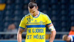 Zlatan marcó de taco e hizo historia con la selección de Suecia