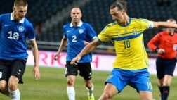 Suecia venció 2-0 a Estonia con doblete de Zlatan Ibrahimovic
