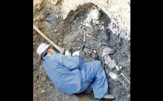 Restos de 14 personas fueron exhumados en selva de Junín