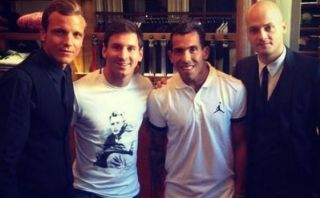 ¿Messi y Carlos Tévez hicieron las paces? Se vieron en Milan
