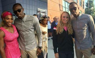 Usain Bolt alentó a las finalistas del US Open