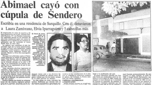 Así Ocurrió: En 1992 cae cúpula de Sendero Luminoso
