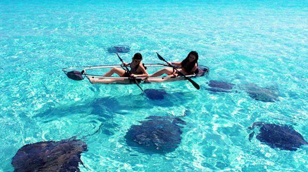 Disfruta del mar de forma diferente en este kayak transparente