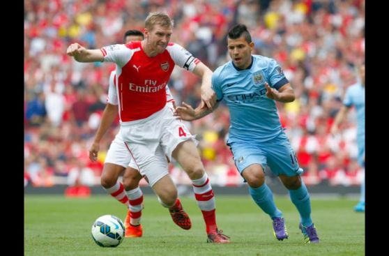 Las imágenes del partidazo entre Arsenal y Manchester City