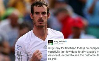 Andy Murray muestra su apoyo a la independencia de Escocia