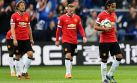 Decepción y tristeza de los jugadores del Manchester United