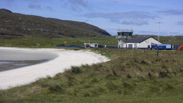 Esta playa de Escocia funciona como aeropuerto
