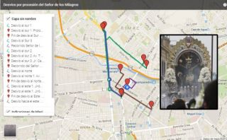 Mapa: desvíos por la procesión del Señor de los Milagros