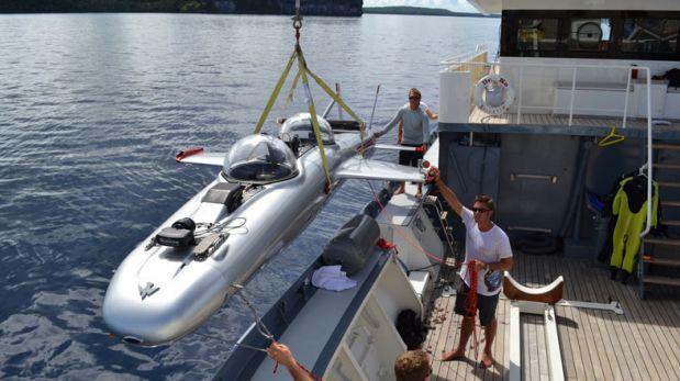 Conéctate con el océano y viaja en este submarino en Fiji