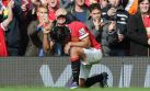 Radamel Falcao celebró así su primer gol en Manchester United