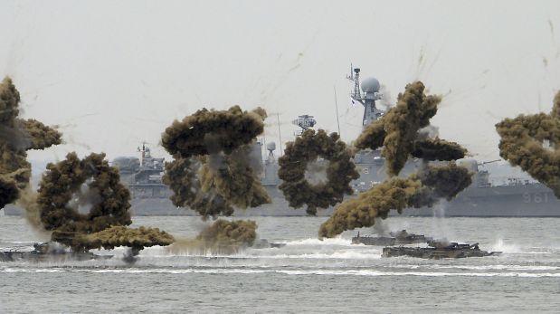 Las dos Coreas intercambian disparos en el Mar Amarillo