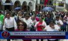 Edwin Donayre encabezó protesta contra reelección de Oscorima
