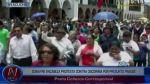 Edwin Donayre encabezó protesta contra reelección de Oscorima - Noticias de edwin donayre