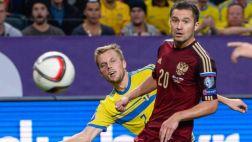 Suecia igualó 1-1 con Rusia con Ibrahimovic los 90' en la banca
