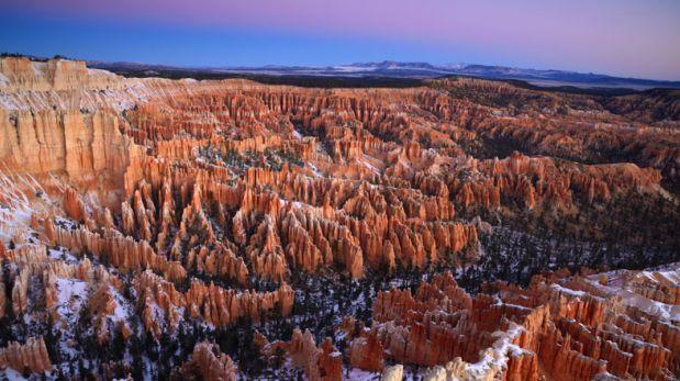 El Cañón Bryce es un lugar con imponentes 'chimeneas' gigantes