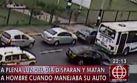Ventanilla: acribillaron a chofer de auto a plena luz del día