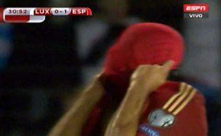 Diego Costa falló este mano a mano en el España-Luxemburgo