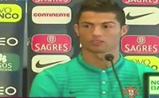 Cristiano se rehusó a responder a un canal de TV en conferencia