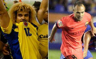 """El 'Pibe' Valderrama: """"Iniesta tiene un estilo como el mío"""""""