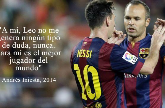 Lionel Messi en las mejores frases de los cracks del fútbol
