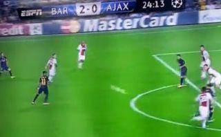 Gol de Lionel Messi tras gran pase del maestro Andrés Iniesta