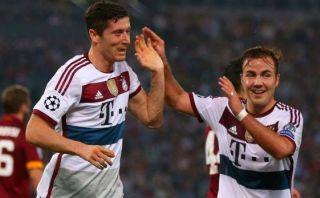 Mira los 5 goles que Bayern anotó a la Roma en el primer tiempo