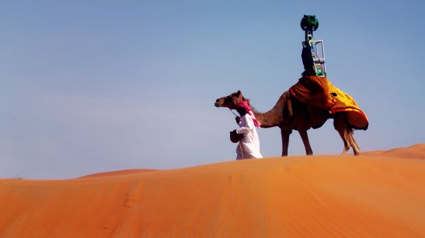 Recorre el desierto sobre un camello con Google Street View