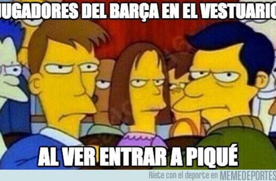 Los memes que se burlan de Piqué e Iniesta tras el clásico