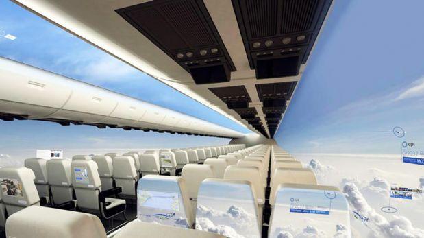 Avión futurista permitirá apreciar vistas panorámicas