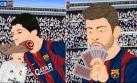 La victoria del Real sobre el Barcelona en versión parodia