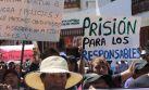 Cajamarquinos marcharon y trataron de tomar comisaría [FOTOS]