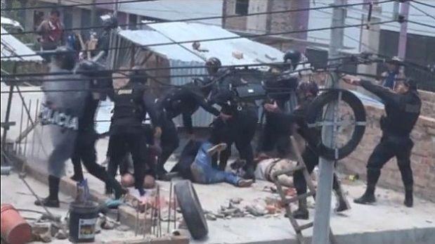 En desalojo en Cajamarca participaron 6 policías inexpertos