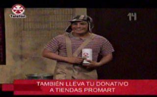 "Erick Elera se vistió de ""El chavo de 8"" por la Teletón 2014"