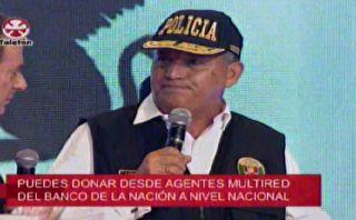 Teletón 2014: Daniel Urresti dio aporte de Interior y Policía